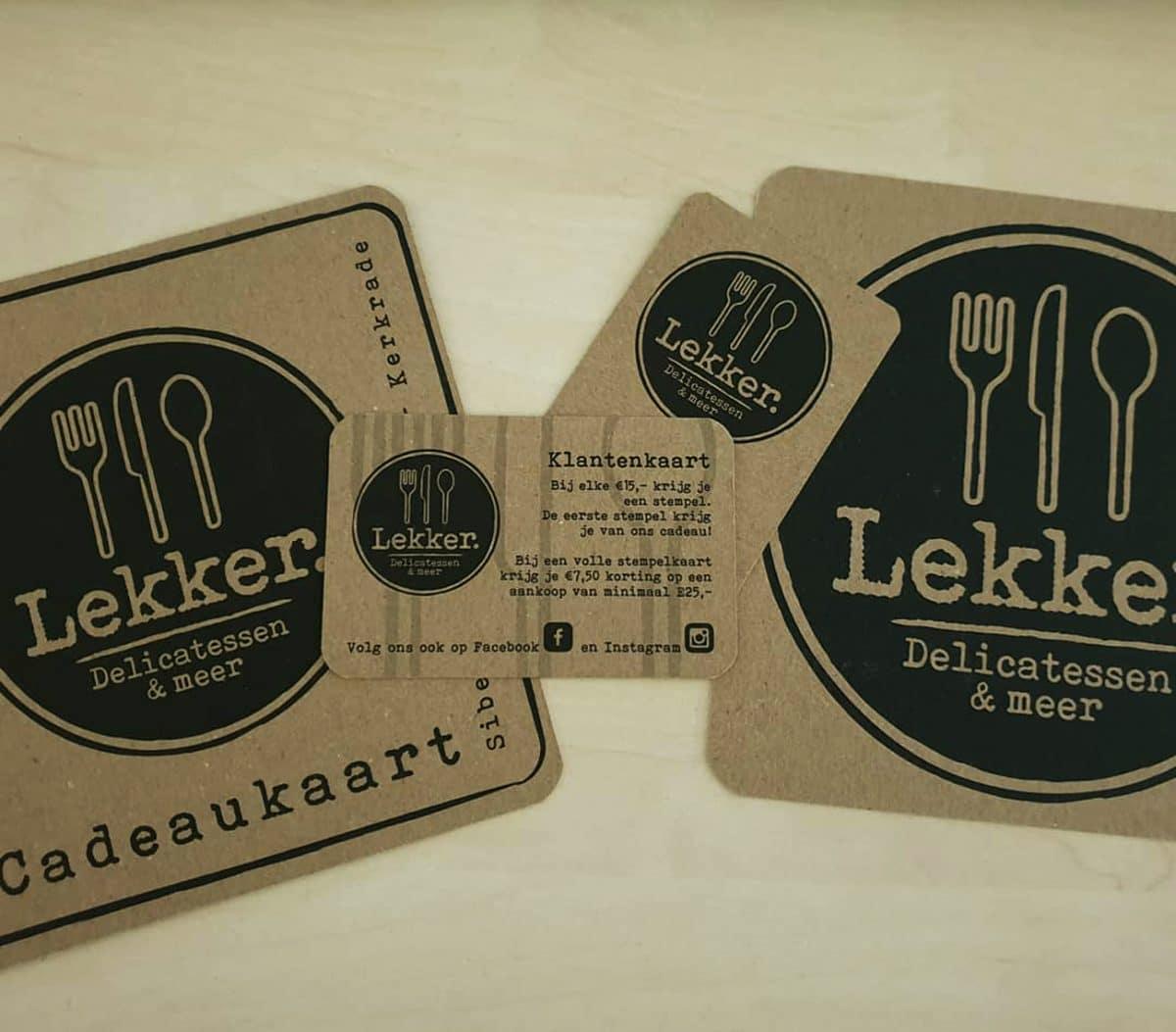 Case Lekker Delicatessen & Meer - POS materiaal Cadeaukaart en klantenkaart